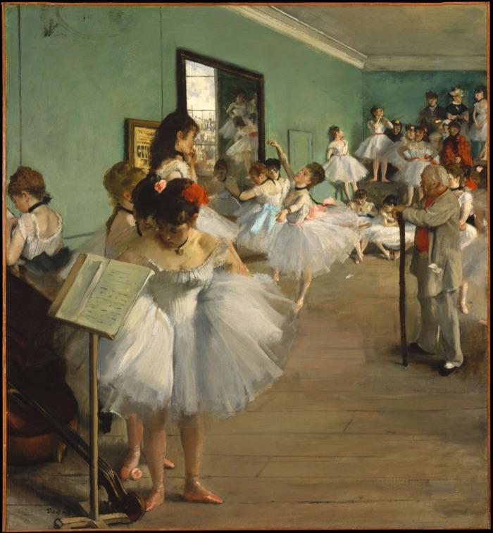 エドガー・ドガ「ダンス教室」