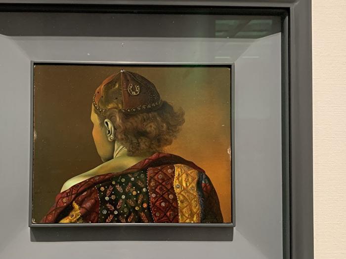 サルバドール・ダリ「ガラの測地学的肖像」